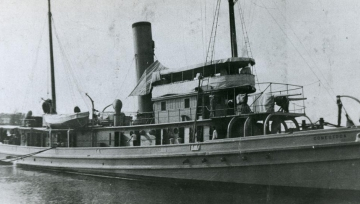 The USS Conestoga before it sank in 1921, possibly during a storm. (Photo courtesy of NOAA)